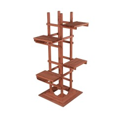 Leisure Season 6-Tier Wooden Pedestal Plant Stand (PS6116)