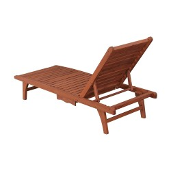 Leisure Season Chaise Lounge With Pull-Out Tray (CL7111)