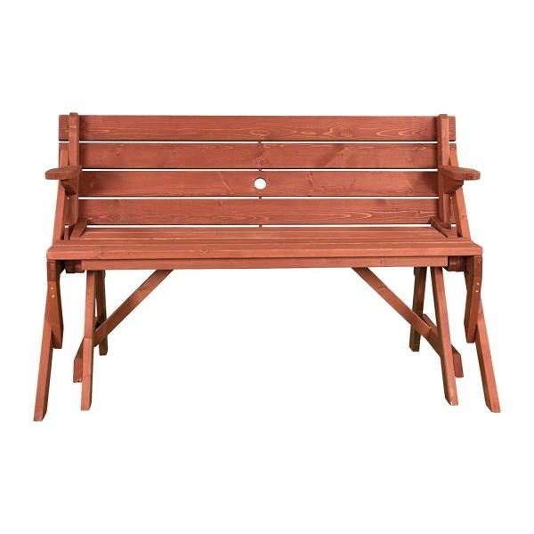 Leisure Season Convertible Wood Picnic Table Amp Garden