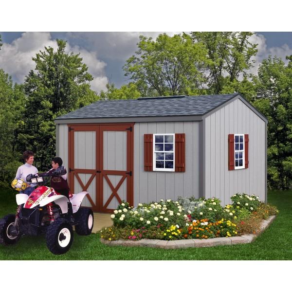 Best Barns Cypress 10x12 Wood Storage Shed Kit (cypress_1012 ...