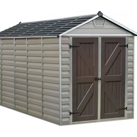 Palram 6 x12 Skylight Storage Shed-Kit - Tan (HG9612T)