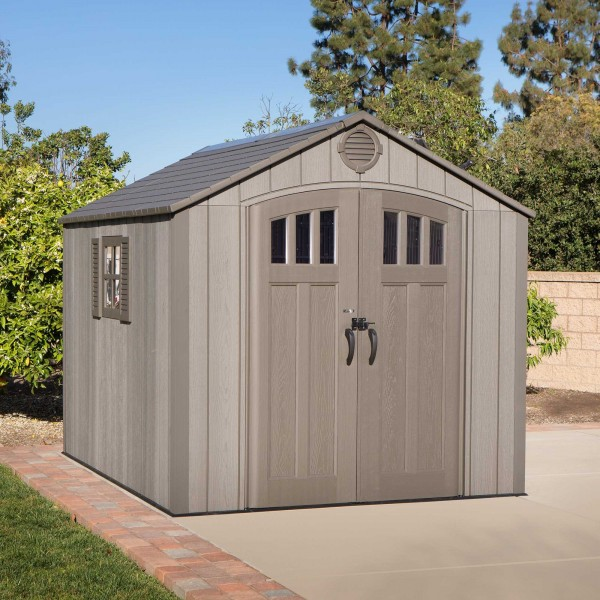 Lifetime 8x10 Outdoor Shed Kit W Vertical Siding Roof