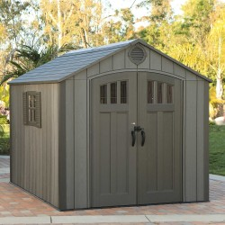 Lifetime 8x10 Outdoor Storage Shed Kit w/ Vertical Siding - Roof Brown (60211U)