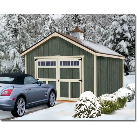 Best Barns Dover 12x24 Wood Garage Kit - All-Precut (dover_1224)