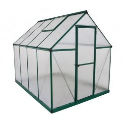 Palram 6x8 Mythos  Hobby Greenhouse Kit - Green (HG5008G)
