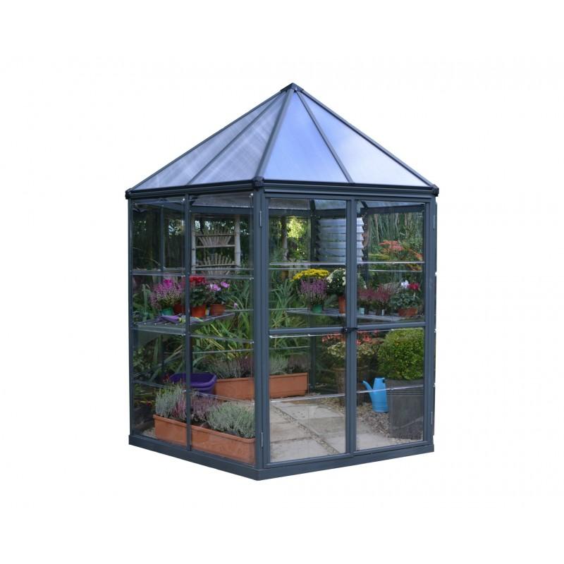 Palram 7x8 Aluminum Oasis Hex Greenhouse Hg6000
