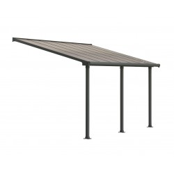 Palram 10x14 Olympia Patio Cover Kit - Gray/Bronze (HG8814)