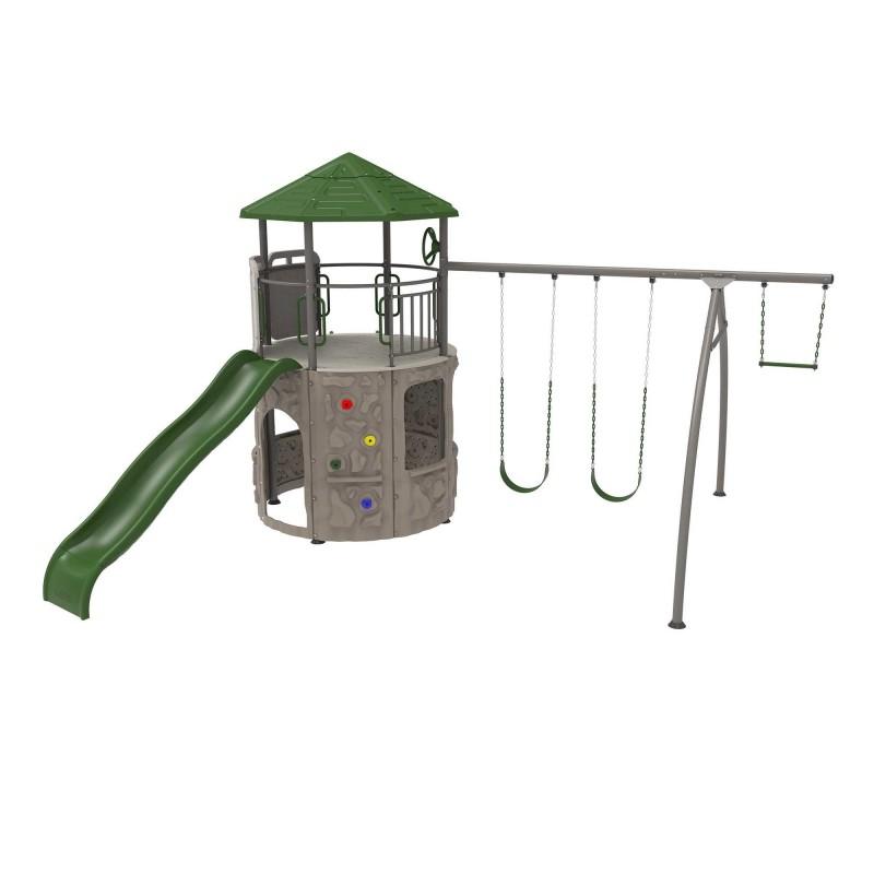 Lifetime Shipwell Adventure Tower Swing Set - Earthtone (290633)