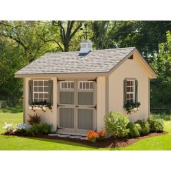 EZ-Fit Heritage 10x12 Wood Shed Kit (ez_heritage1012)