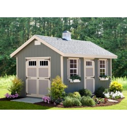 EZ-Fit Riverside 12x16 Wood Shed Kit (ez_riverside1216)
