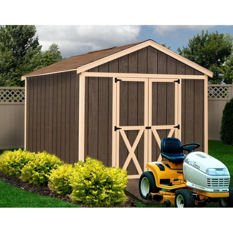 Best Barns 8' x 12' Danbury Wood Shed Kit - All Pre-Cut