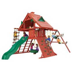 Gorilla Sun Palace I Cedar Wood Swing Set Kit - Redwood (01-0012)