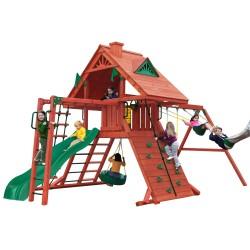 Gorilla Sun Palace II Cedar Wood Swing Set Kit - Redwood (01-0013)