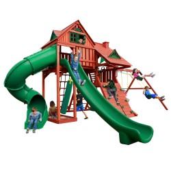 Gorilla Sun Palace Deluxe Cedar Swing Set Kit - Redwood (01-0044)
