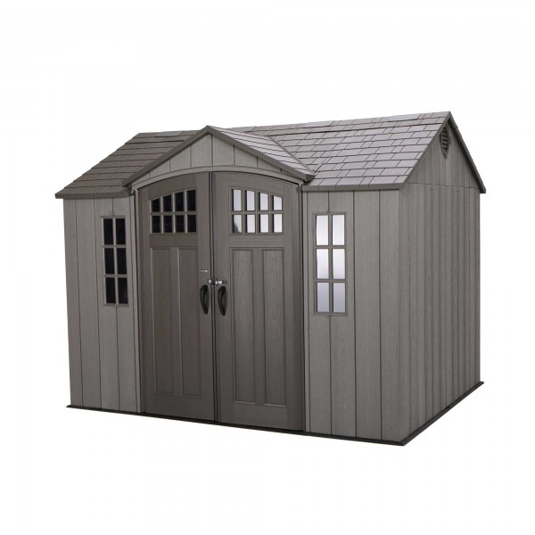 Outdoor Storage Shed Gray Lifetime 60202 8 X 10 Ft Patio Lawn Garden Outdoor Storage