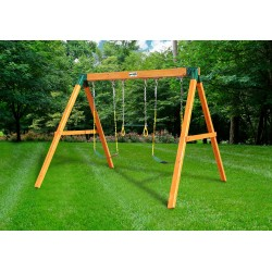 Gorilla 3 Position Cedar Wood Swing Station Set Kit - Amber (01-0002)