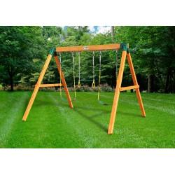 Gorilla 3 Position Cedar Wood Swing Station Set Kit - Amber (01-0002)
