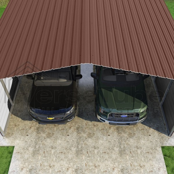 Versatube 3 Sided 20x20x10 Classic Steel Carport Kit C3e020200100