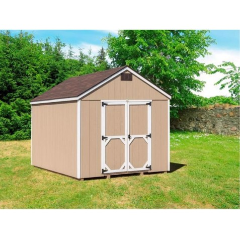 EZ-Fit Craftsman 8'W x 8'D Wood Storage Shed Kit (ez_craftsman88)