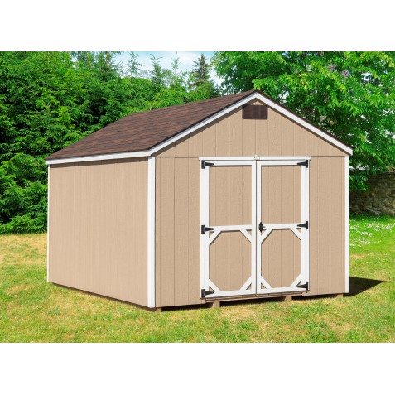 EZ-Fit Craftsman 10'W x 10'D Wood Storage Shed Kit (ez_craftsman1010)
