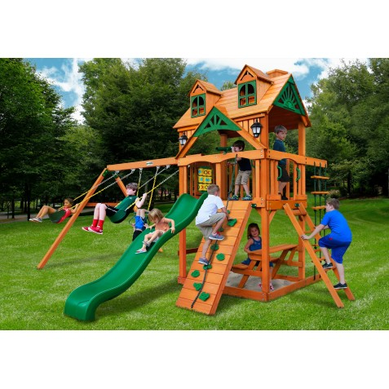 Gorilla Malibu Cedar Swing Set Kit w/ Amber Posts - Amber (01-0045-AP)