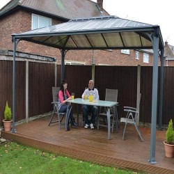 Palram 10x14 Martinique Rectangle Garden Gazebo Kit (HG9170)