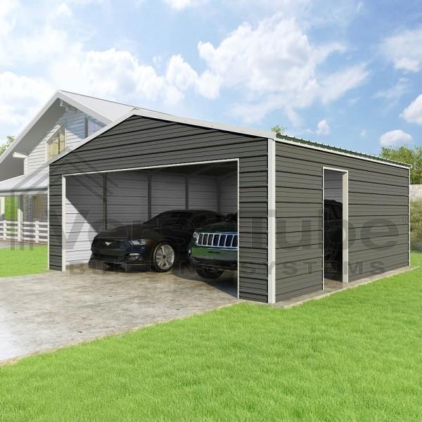 Versatube 20x20x8 Frontier Classic Steel Garage Kit