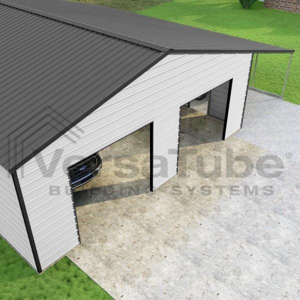 Versatube 30x40x10 Frontier Steel Garage Kit W Lean To