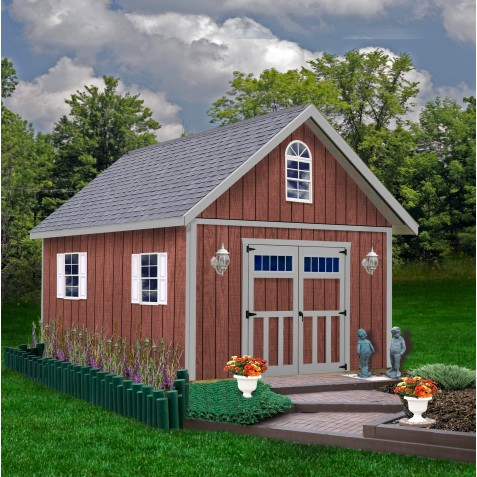 Best Barns Springfield 12x20 Wood Storage Shed Kit (springfield_1220)