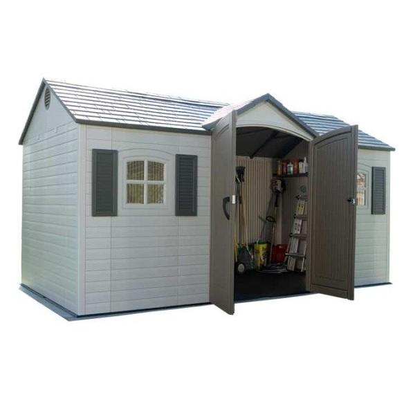 lifetime 15u0027 x 8u0027 garden storage shed 6446 - Garden Sheds Georgia