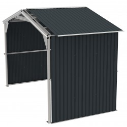 Duramax 6' Metal Storage Shed Extension - Dark Gray (54951)