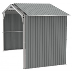 Duramax 6' Metal Storage Shed Extension Kit Only - Light Gray (54952)