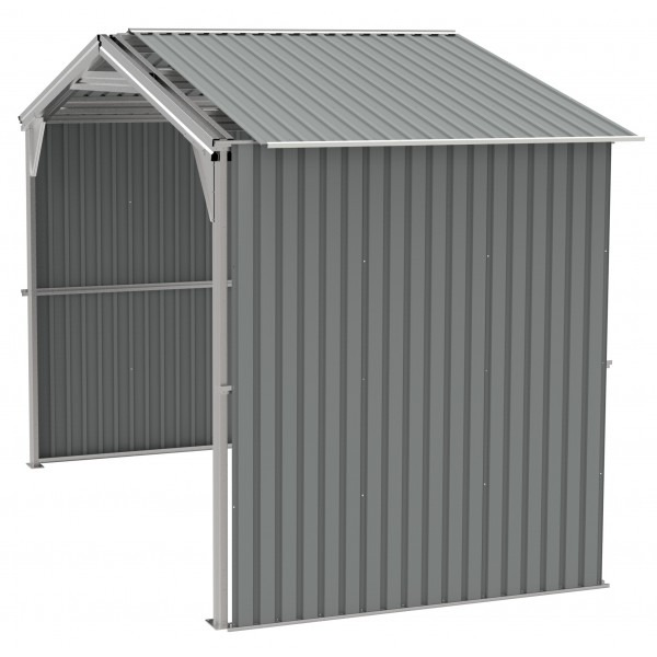 Duramax 6 Metal Storage Shed Extension Kit Only Light Gray 54952