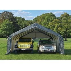 ShelterLogic 18x20x10 2-Car Garage-In-A-Box Kit - Gray (69499)