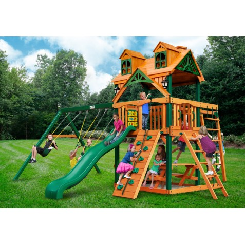 Gorilla Malibu Navigator Cedar Wood Swing Set Kit w/ Timber Shield™ - Amber (01-0074-TS)