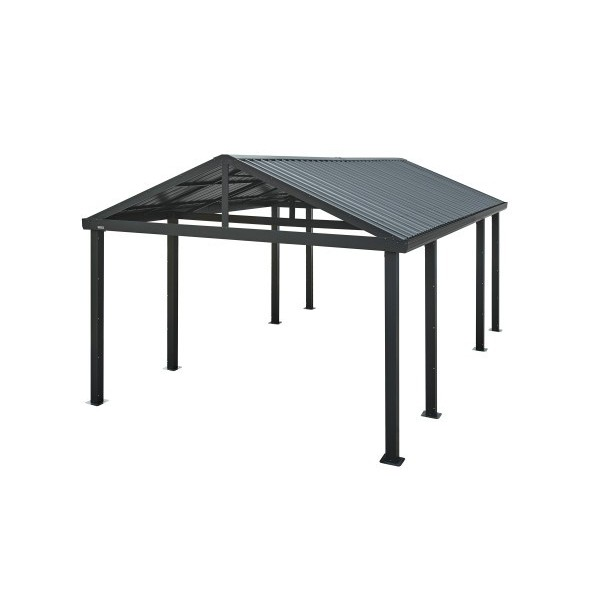 Sojag 12x20 Samara Metal Carport Kit Dark Gray 500 9165838