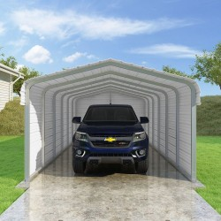 Versatube 3-Sided 12x29x7 Classic Steel Carport Kit (C3E012290070)