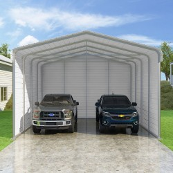 VersaTube 3-Sided 20x20x12 Classic Steel Carport Kit (C3E020200120R)