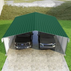 VersaTube 2-Sided 20x20x7 Classic Steel Carport Kit (CM020200070-NS0009)