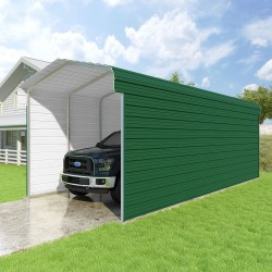 VersaTube 2-Sided 12x29x10 Classic Steel Carport Kit (CM012290100-NS0009)