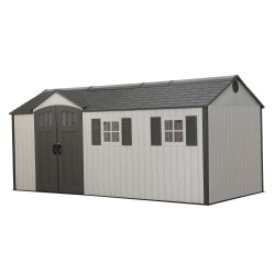Lifetime 17.5x8 Plastic Storage Shed Kit w/ Floor (60214)