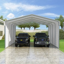 VersaTube 2-Sided 20x20x10 Classic Steel Carport Kit (CM020200100-NS0009)