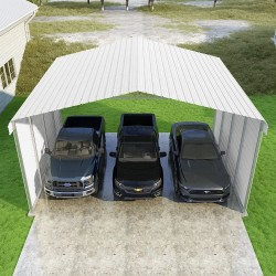 VersaTube 2-Sided 24x20x12 Classic Steel Carport Kit (CM324200120-NS0009)