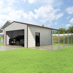 Versatube 20x20x10 Frontier Steel Garage Lean-To Kit (FBM2202010516-LT12)