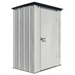 Spacemaker Patio Steel Storage Shed, 4x3, Flute Grey and Anthracite (PS43)