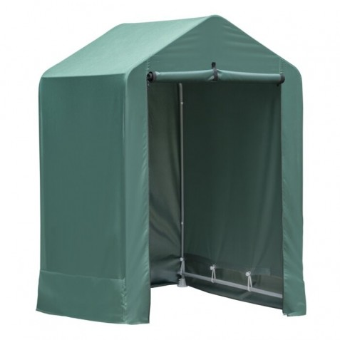 ShelterLogic Green Garden Shed 4x4x6 Peak (70388)