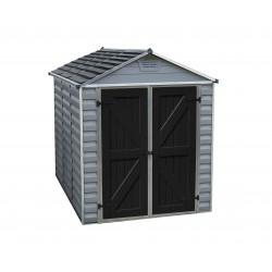 Palram 6x8 Skylight Storage Shed Kit - Gray (HG9608GY)