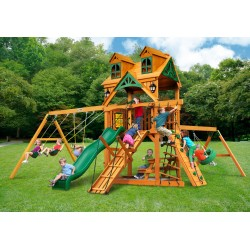 Gorilla Malibu Frontier Cedar Wood Swing Set Kit w/ Amber Posts - Amber (01-0075-AP)