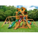 Gorilla Malibu Frontier Cedar Wood Swing Set Kit w/ Amber Posts - Amber (01-0075-AP)