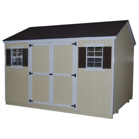 Little Cottage Company Value Workshop 8x8 Storage Shed Kit (8x8 VWS-WPC)